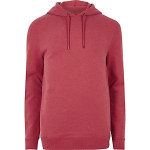 Veste à capuche casual rouge délavé
