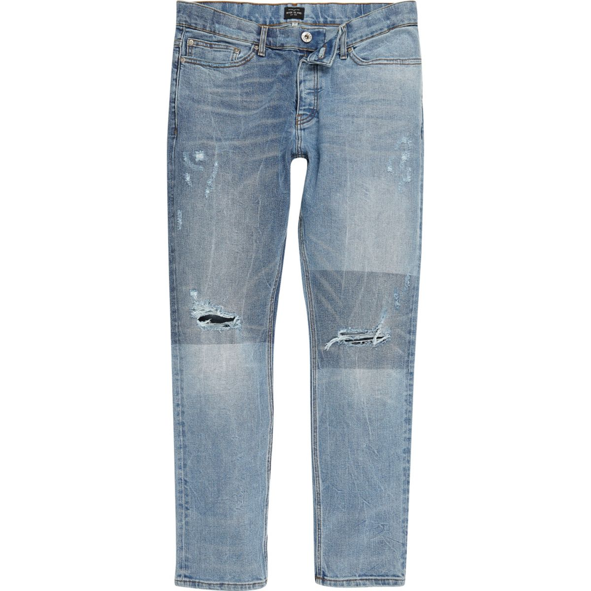 Light blue fade patch Sid jeans