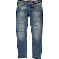 Dark blue skinny Sid chain jeans