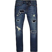 Dark blue wash Danny super skinny jeans
