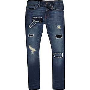 Danny dark blue wash superskinny jeans