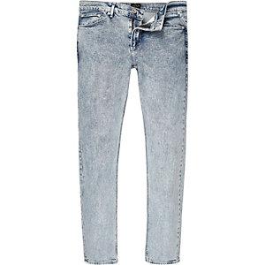 Sid acid blauwe wash skinny jeans