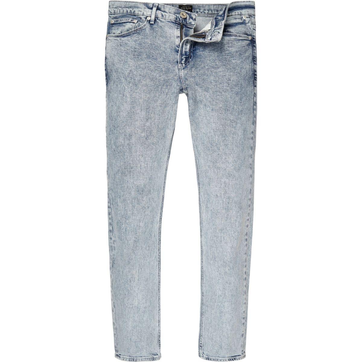 Acid blue wash Sid skinny jeans