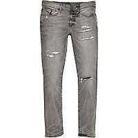 Danny – Graue Skinny Jeans im Used Look