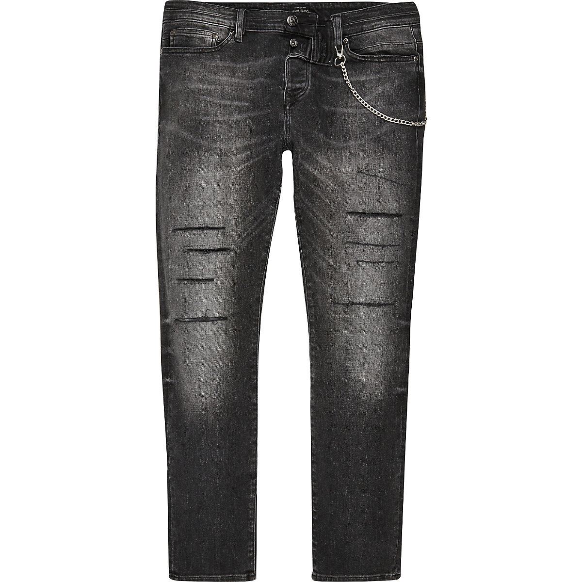 Black wash Sid cigarette skinny jeans