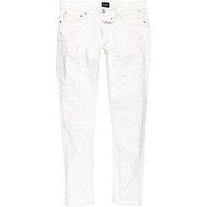 Danny – Weiße Skinny Jeans im Used-Look