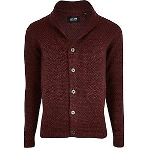 Only & Sons rood grofgebreid vest