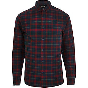 Red Only & Sons check long sleeve shirt