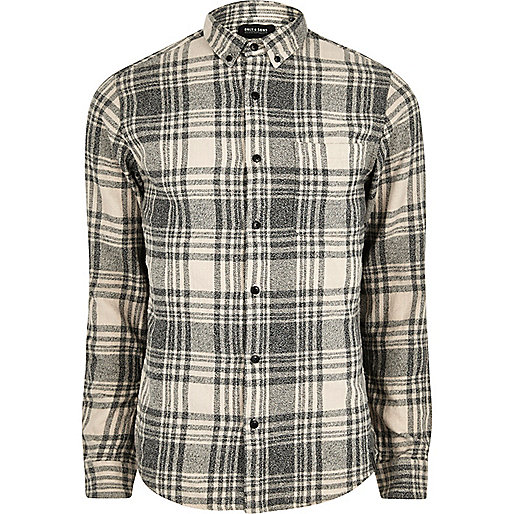 Light grey Only & Sons check shirt