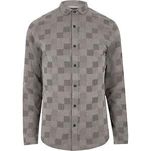 Chemise Only & Sons grise à carreaux