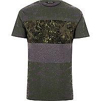 Dark green print Only & Sons T-shirt