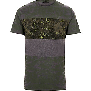 T-shirt Only & Sons imprimé vert foncé