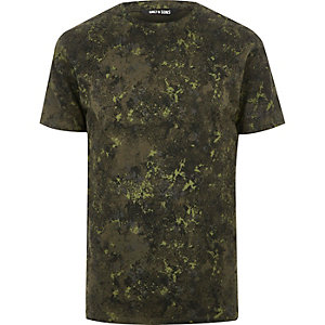 Dark green print Only & Sons T-shirt