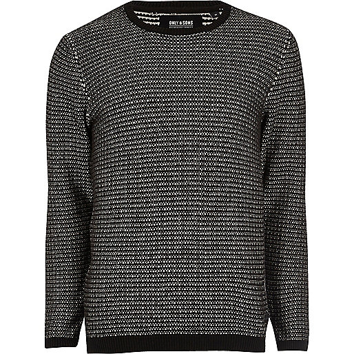 Black knit Only & Sons sweater