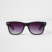 Braune, rechteckige Retro-Sonnenbrille