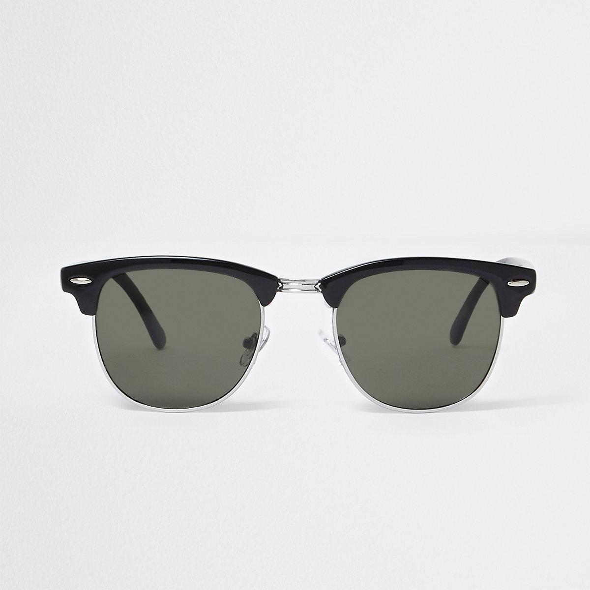 Schwarze Retro-Sonnenbrille