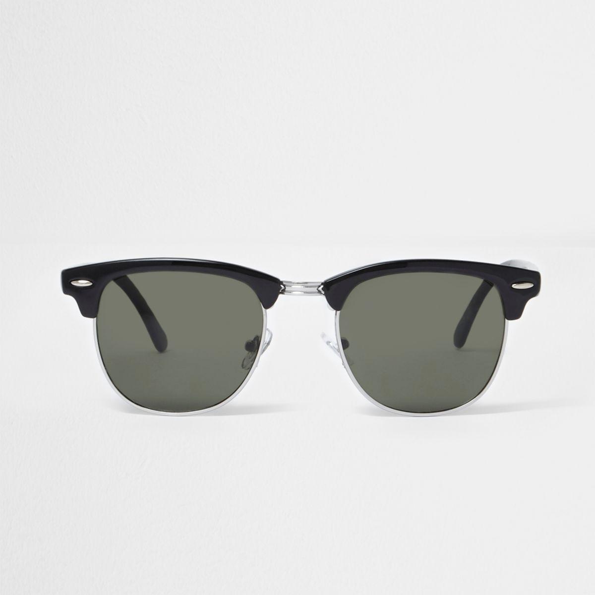 Zwarte retro zonnebrillen