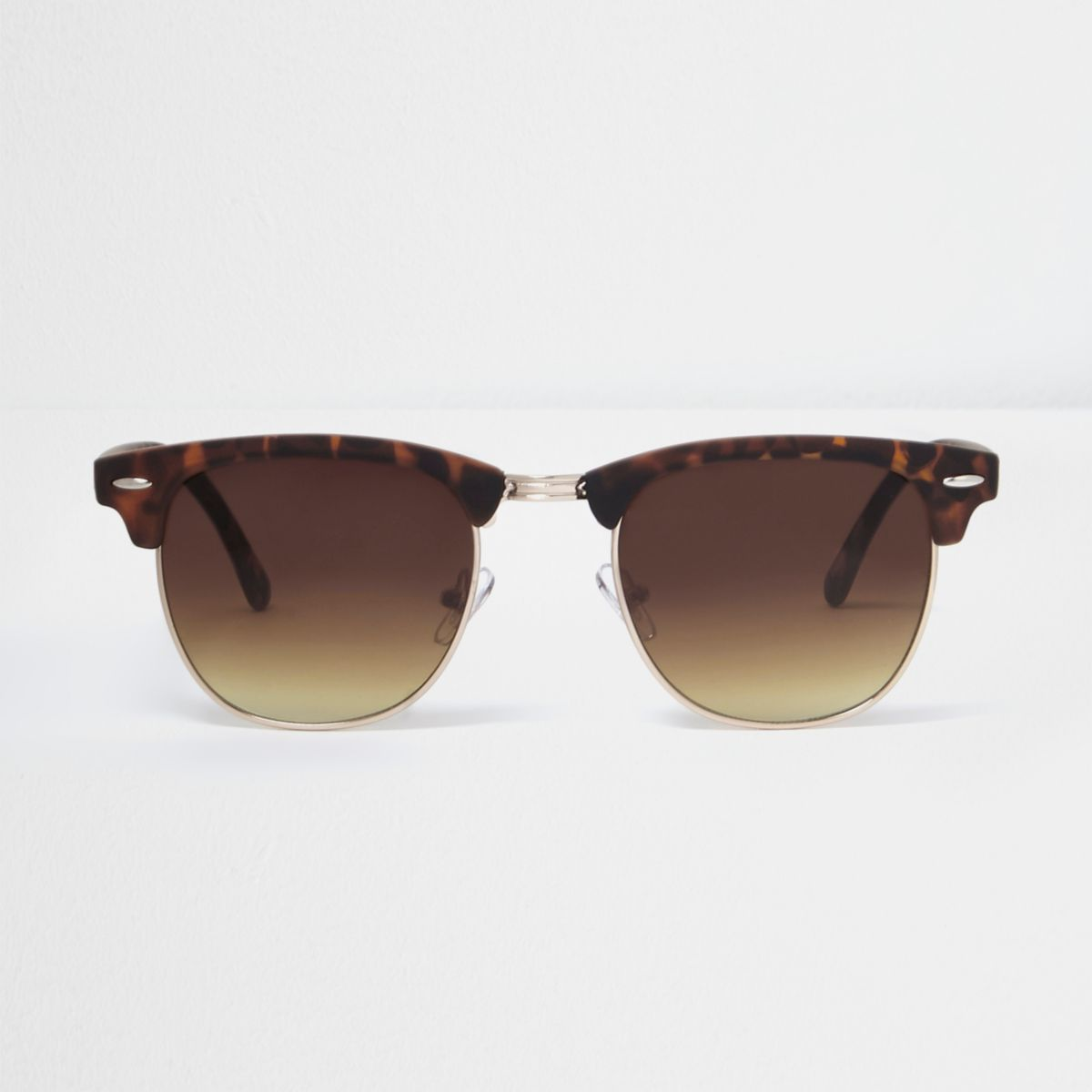 Brown tortoiseshell retro sunglasses
