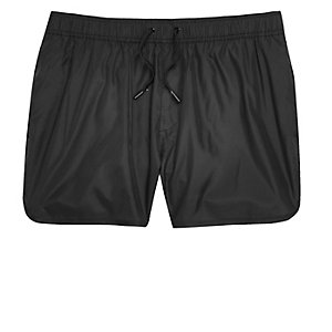 Black runner style swim trunks