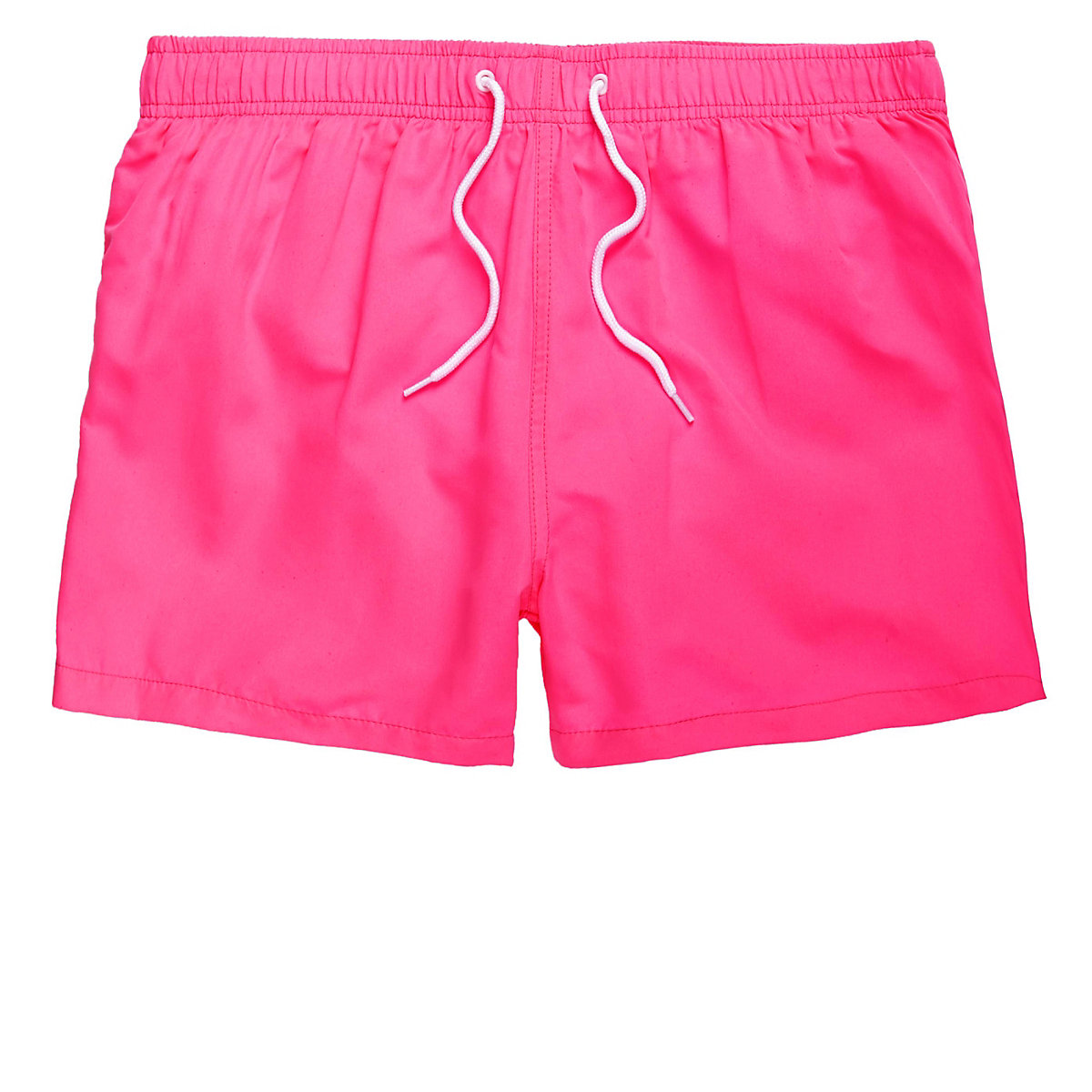Pink neon swim trunks