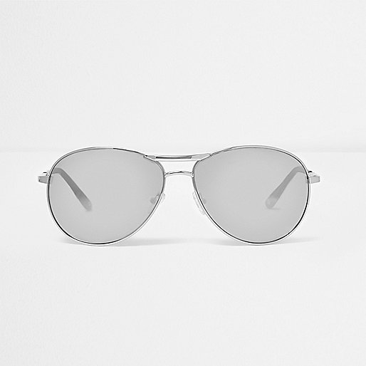black aviator sunglasses online  Mens Sunglasses - Aviator, Round \u0026 Retro - River Island