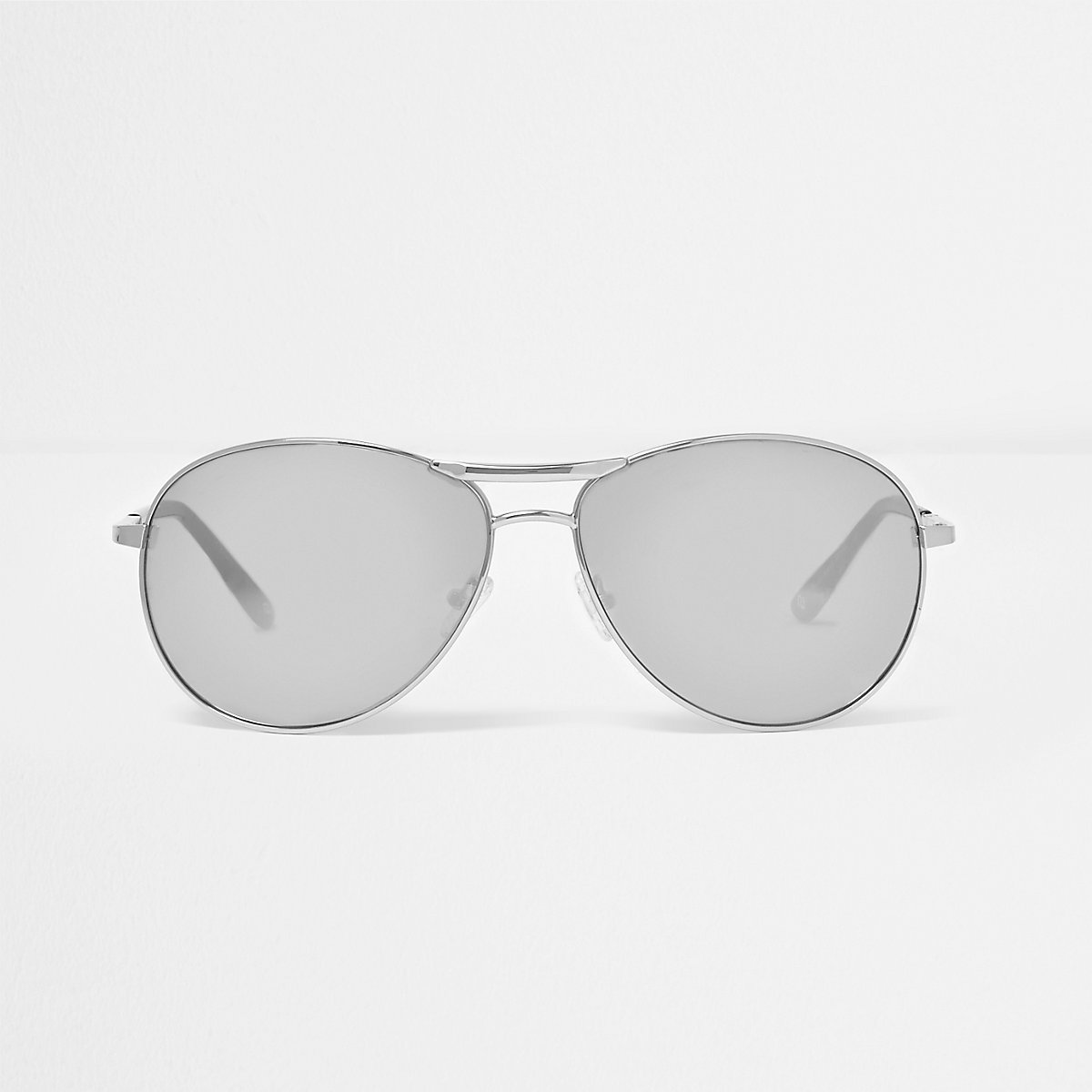 Zilverkleurige pilotenbril met spiegelglazen