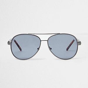 Grey tone tortoiseshell aviator sunglasses