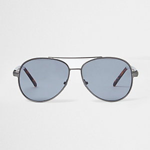 Graue Pilotensonnenbrille aus Schildpatt