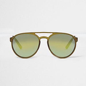 Dunkegrüne Pilotensonnenbrille