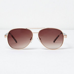 Yellow tone aviator sunglasses