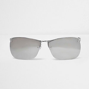 Silver tone sporty sunglasses