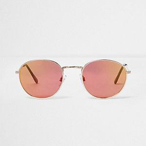 Runde Sonnenbrille in Roségold