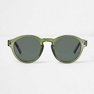 Grüne, runde Sonnenbrille