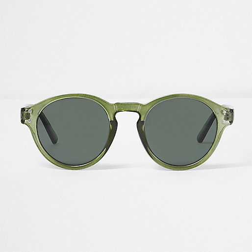 Green round frame sunglasses