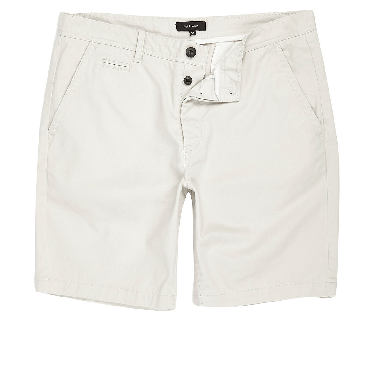 Stone slim fit chino shorts