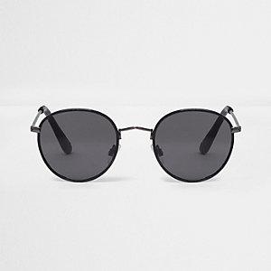 Petites lunettes de soleil rondes noires