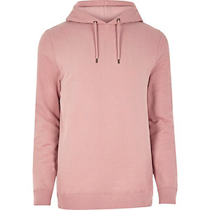 Sweat rose casual à capuche