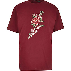 T-shirt Jaded London brodé rouge
