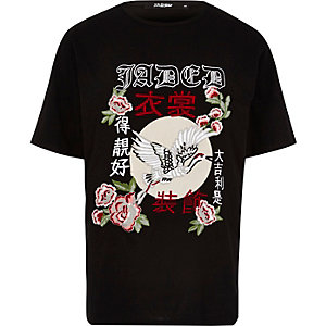 Black Jaded London embroidered T-shirt