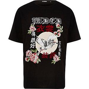 T-shirt Jaded London noir brodé