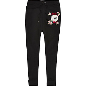 Black Jaded London embroidered joggers
