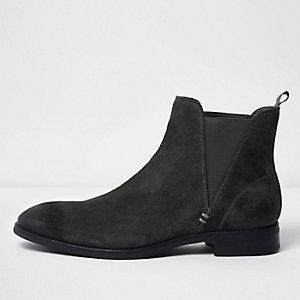 Antracietgrijze suède chelsea boots