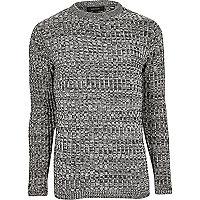 Black twist slim fit sweater