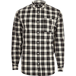 White casual check shirt