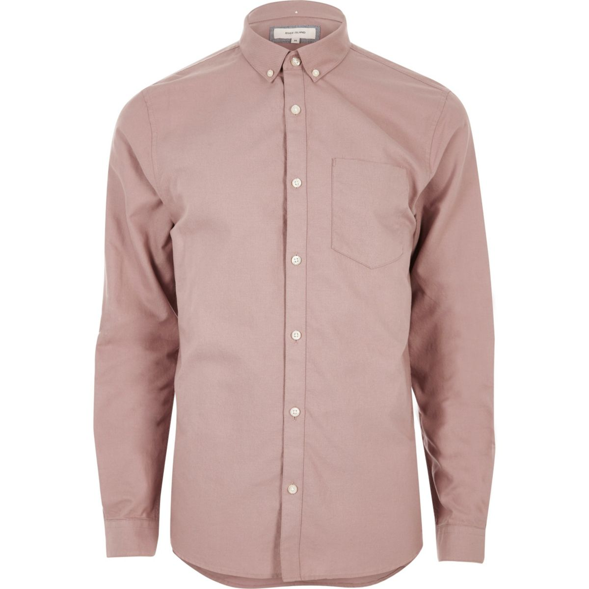 Dusty pink casual oxford shirt shirts sale men for Pink oxford shirt men