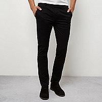 Zwarte skinny chinobroek met stretch