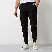 Black slim fit cargo pants