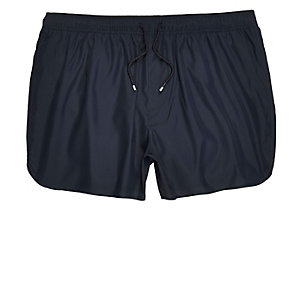Navy runner style swim shorts