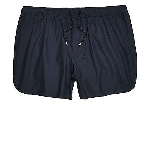 Navy short swim trunks