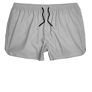 Grey short swim trunks